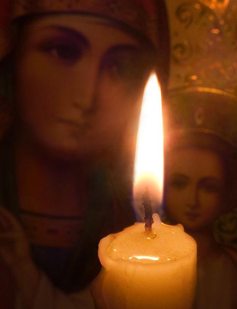 Свеча-икона