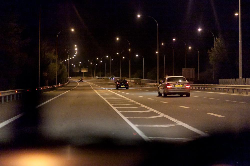 Ночная дорога фото из машины