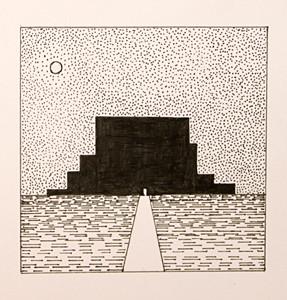 Из работ учеников студии в октябре-Галя Надобыуточнитьфамилию. Графические работы на тему Ритм.Город