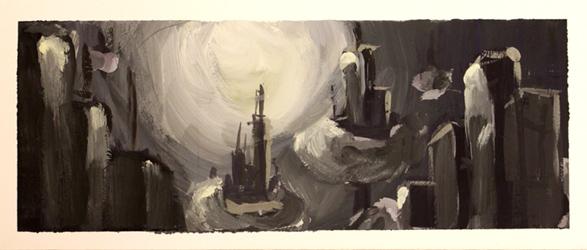 Из работ учеников студии в октябре-Владимир Тарасов-Эскиз к графической работе.