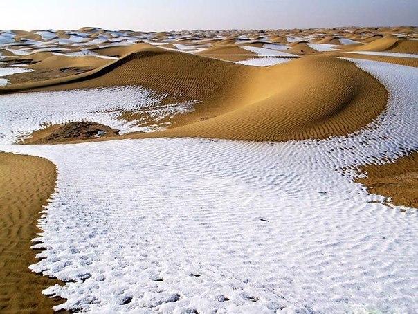 Заснеженная пустыня...