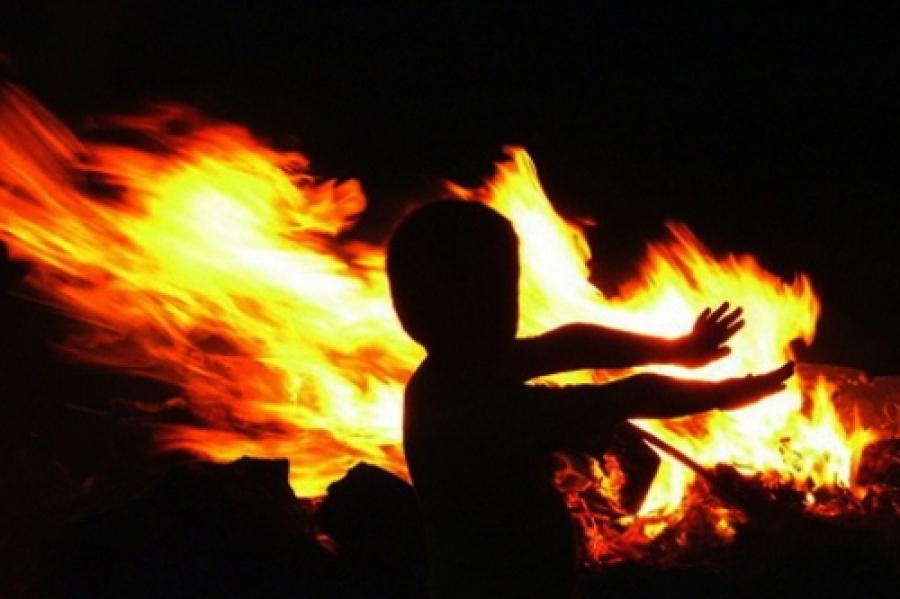 Украина. Пожар