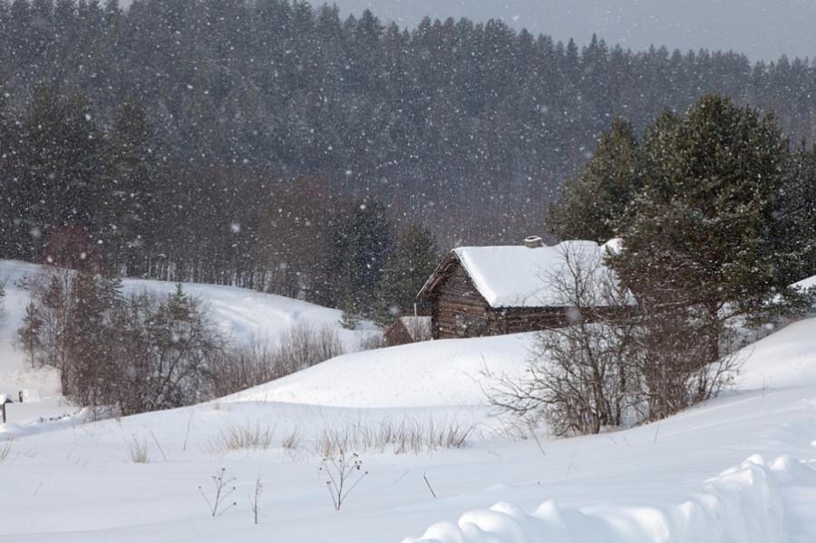 Деревня Масельга (зима)