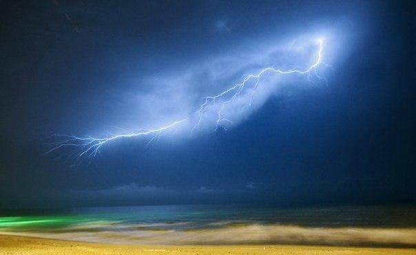 Измененная реальность. Молния. Море