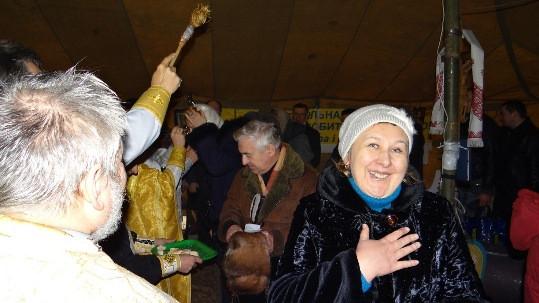 АПЦ, 14 января, праздник Василия Великого. Служба Божия на Майдане (ФОТО)