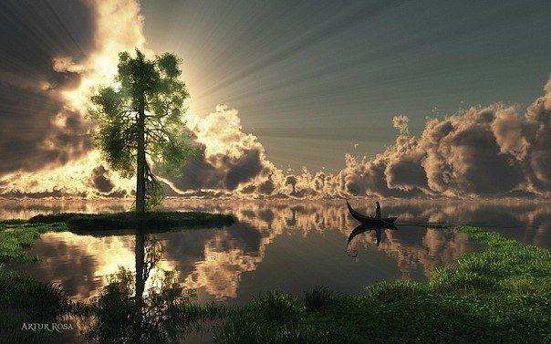Вода, земля, небо, свет...