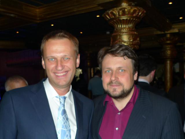 Алексей Навальный и Олег Анисимов