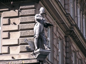 Памятник Кульчицкому в Вене.