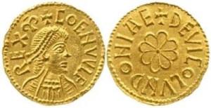 Золотой с изображением короля англосаксов Кенвульфа