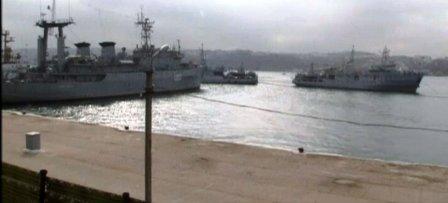 Украинские корабли заблокированы
