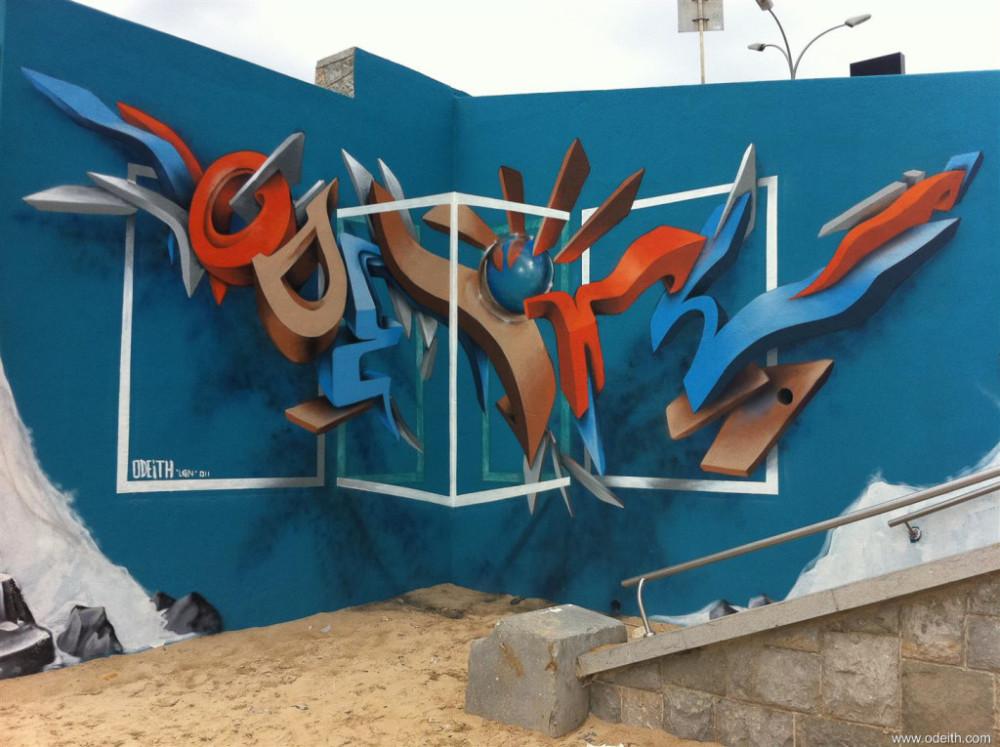 Odeith-Anamorphic-3D-Graffiti-Lettering-Praia-da-torre-Oeiras-Portugal