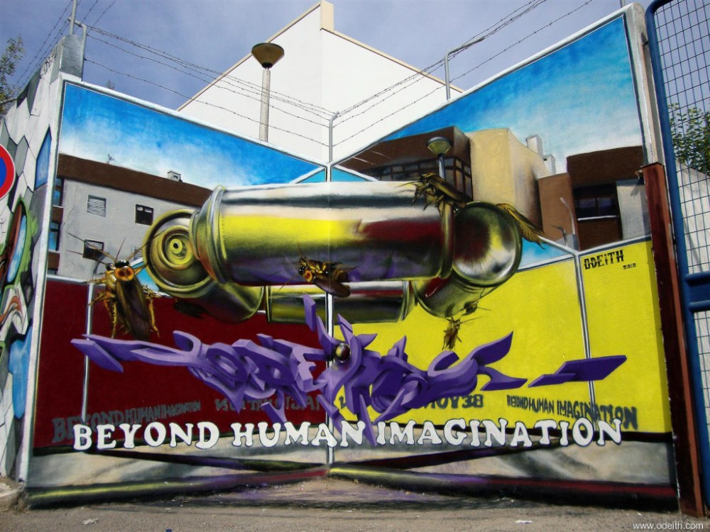 Odeith-Anamorphic-3D-Graffiti-Letters-Behond-Human-Imagination-spray-can-roaches-2-mirrors-simulation
