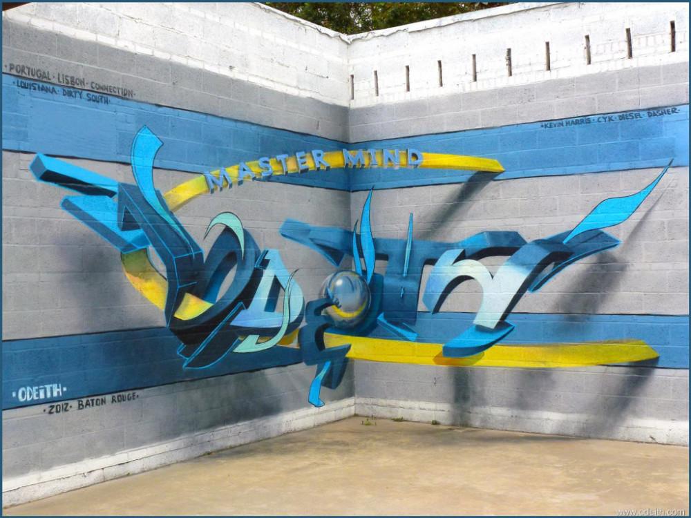 Odeith-Anamorphic-3D-Graffiti-Letters-master-mind-baton-rouge-louisiana
