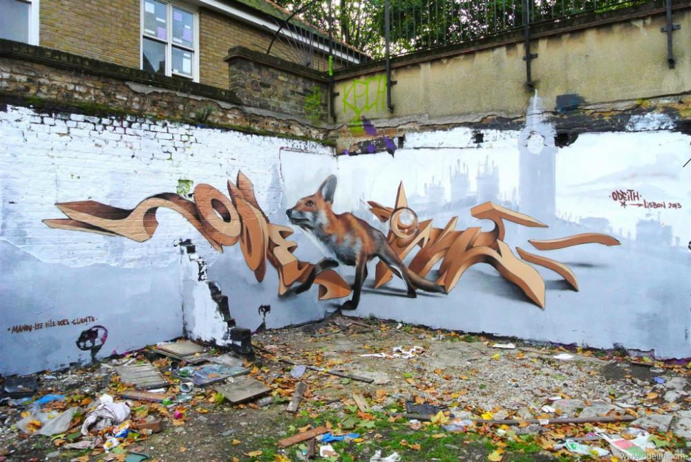 Odeith-Anamorphic-3D-Graffiti-cream-Letters-fox-brick-lane-shoreditch-london