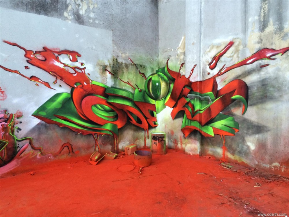 Odeith-Anamorphic-3D-Graffiti-Lettering-explosion-ultra-red-floor