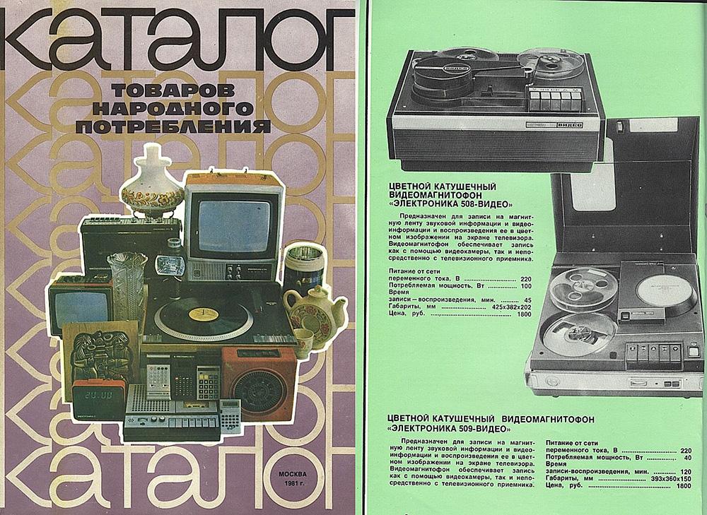 Каталог товаров народного потребления 1981 года