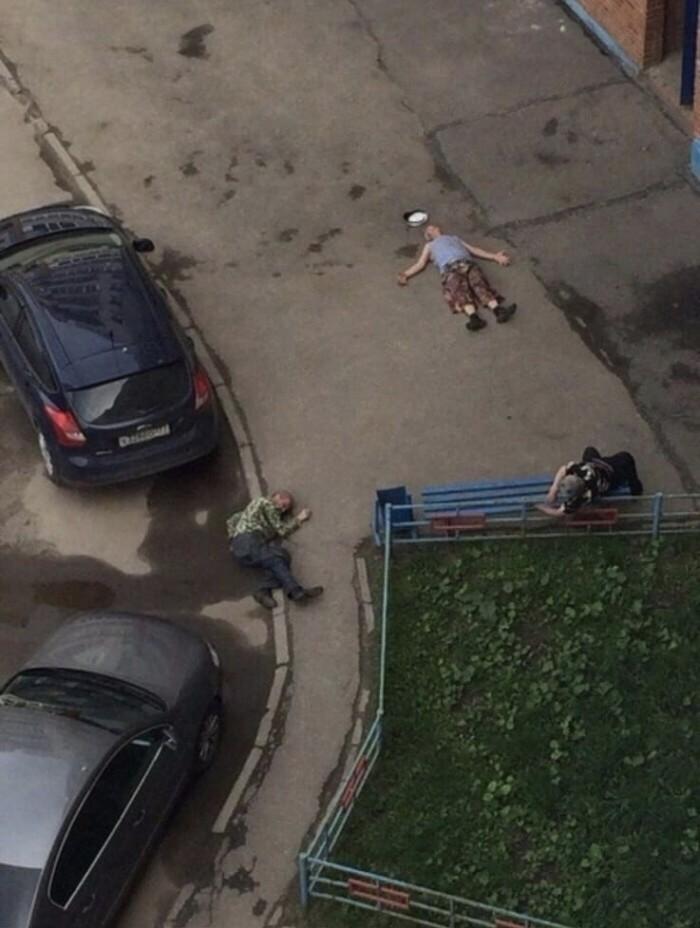 0 есть жертвы, троих человек раскидало по двору