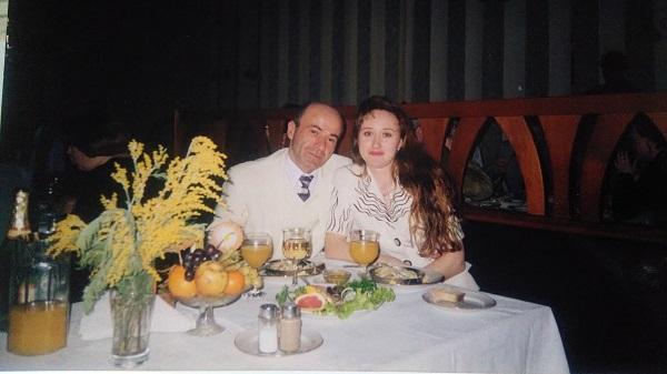 Пецо со своей бывшей женой Наталией Дышкант