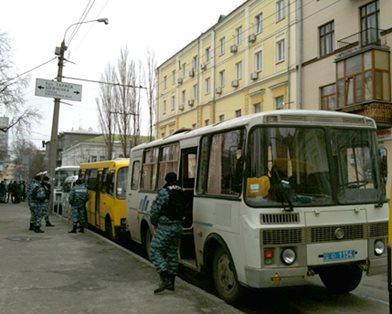 реальный автобус Беркута