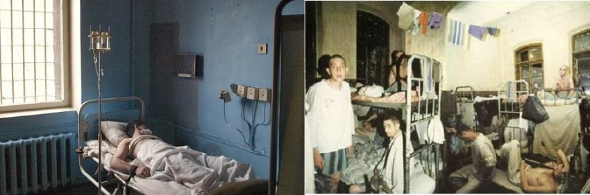 2 больничное отделение и тюремная камера в Матроске