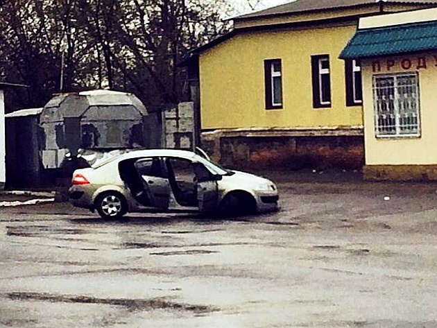 mescheryakov_shooted_car_in_slaviansk