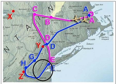 Схема движения боингов на Нбю-Йорк 22222222222