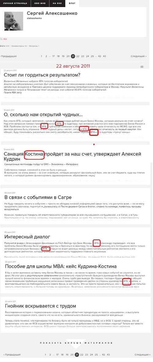 Алексашенко втб 2011 год 2222222222