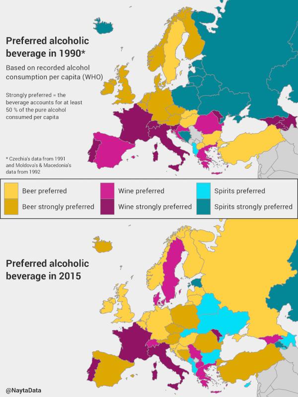 Потребление спиртного в Европе, миф о русском пьянстве и запрет спортивной
