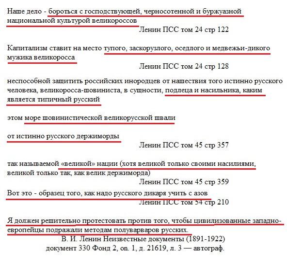Ошибки Николая II, Ленин о русофобии и советский фотошоп