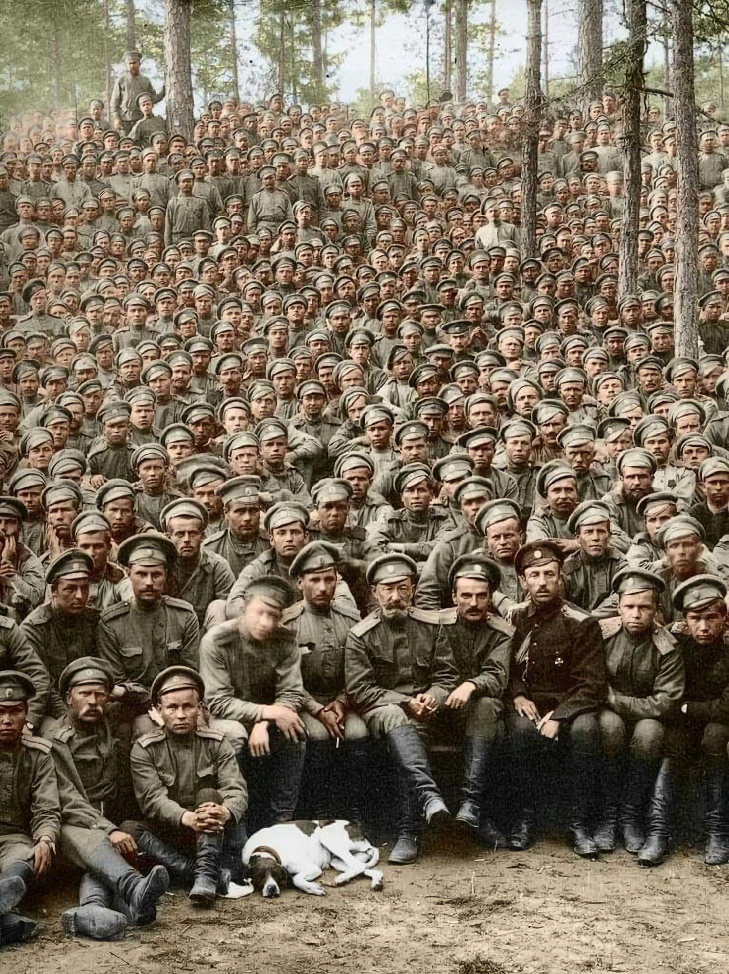 Русские солдаты 267-й пехотный Духовщинский полк 25.06.1916