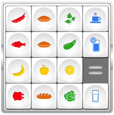суть 15шек можно отразить такой картинкой. красные квадраты - белковая пища. оранжевые - угли, зеленые- зелень, голубые - напитки