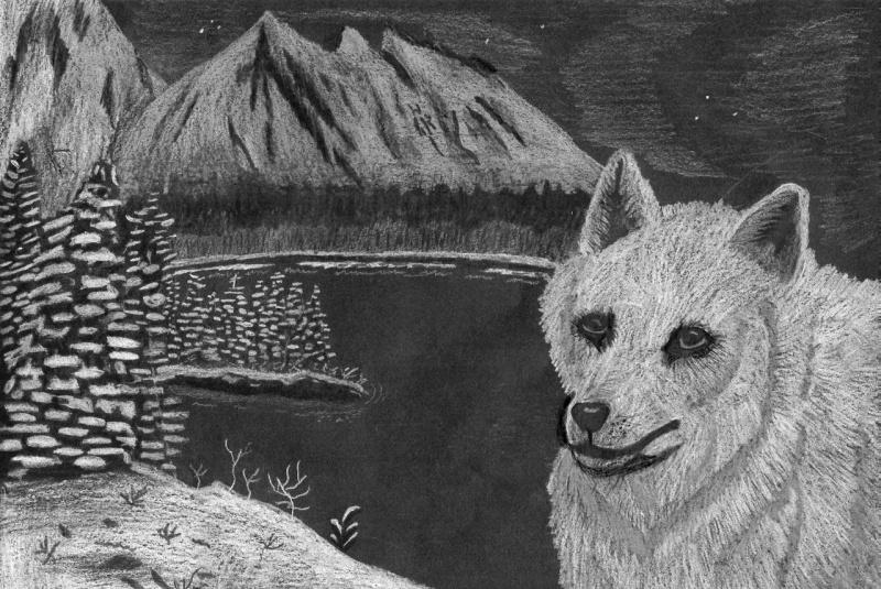 l36119-zeichnungen_comic-wolf_in_weiser_landschaft[1]