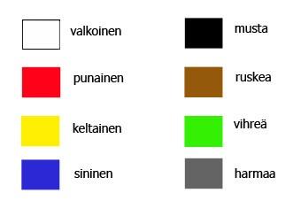 color, цвета, финский язык