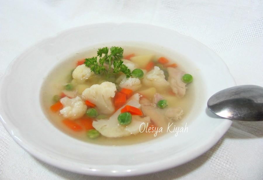 суп из горошка и цветной капусты