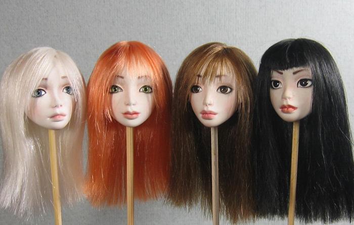Кукла своими руками как сделать волосы