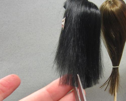 Концы волос филированные
