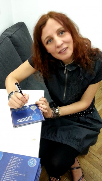 Ольга Арефьева на презентации нового альбома в московском ЦДХ 26 марта 2017. Фото: Лена Калагина