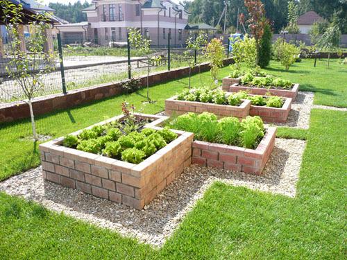 декоративный огород, поднятые грядки