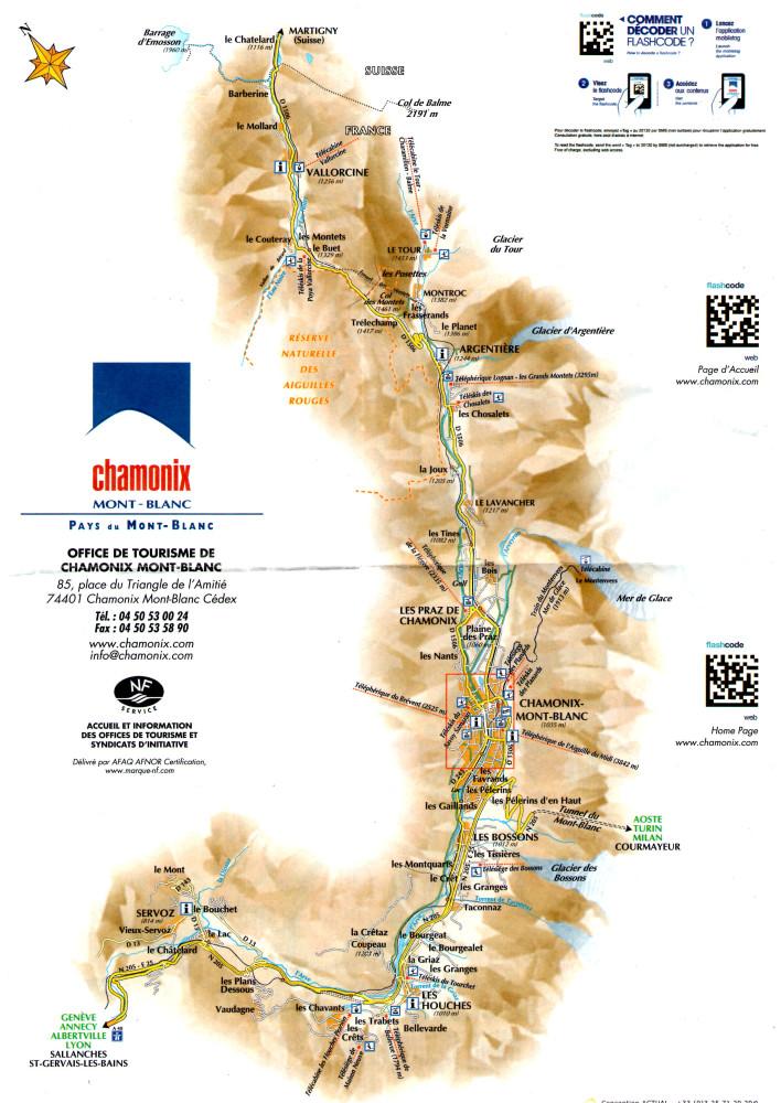 Карта долини Шамоні, нова