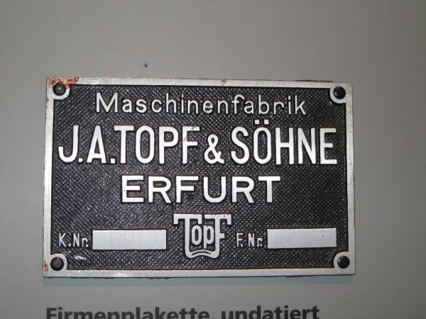 клеймо фирмы «Topf und Söhne»