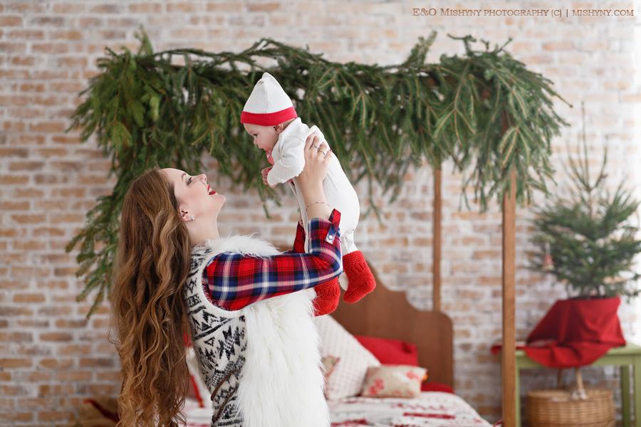 Фотостудия Прованс, Киев, Новый год, семейная фотосессия, мама и малыш