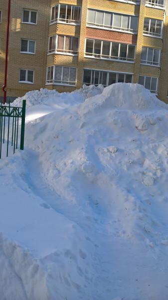 Город в снегу.