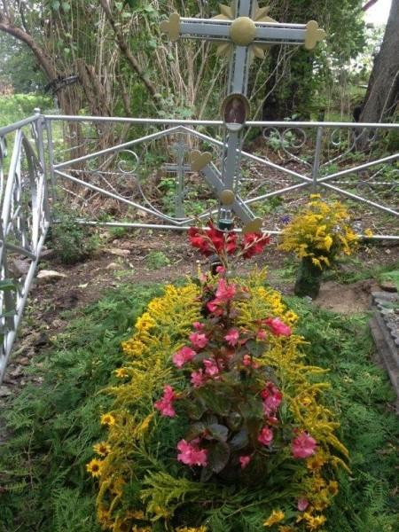 могила о.Алексия Лопухина у храма Николы-на-городище