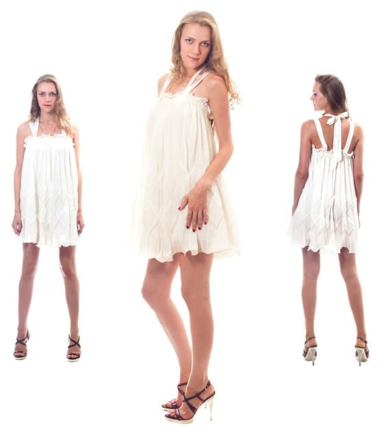 Белые короткие платья где