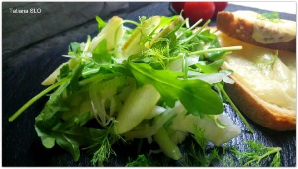 яблочный салат с фенхелем