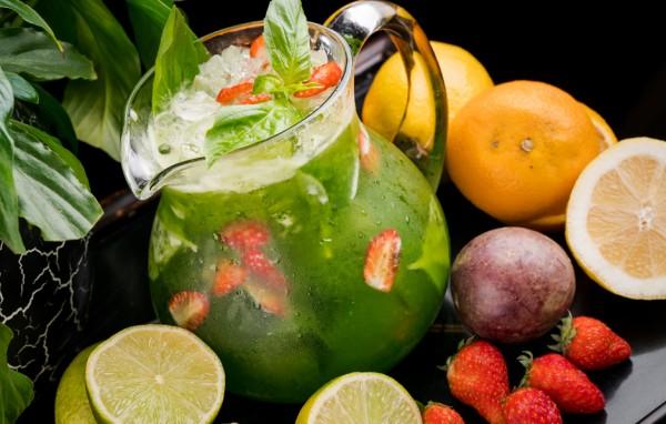 лимонад огурец-базилик