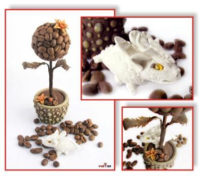 Ольга Ситникова (Vasilina). Белый Дракон и миниатюрное кофейное деревце