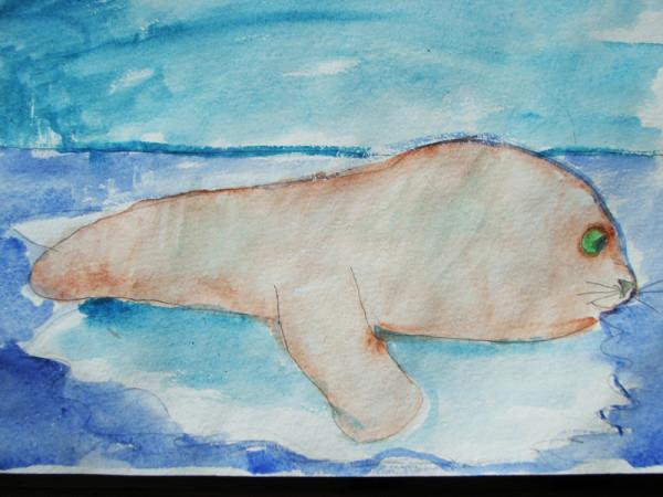 подпиши рисунки тюлень на льдине чистое место икеевской
