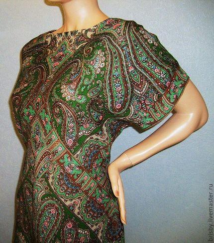 Как сшить платье из павлопосадских платков своими руками