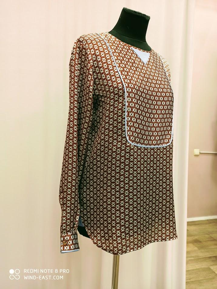 Блузка из натурального шелка
